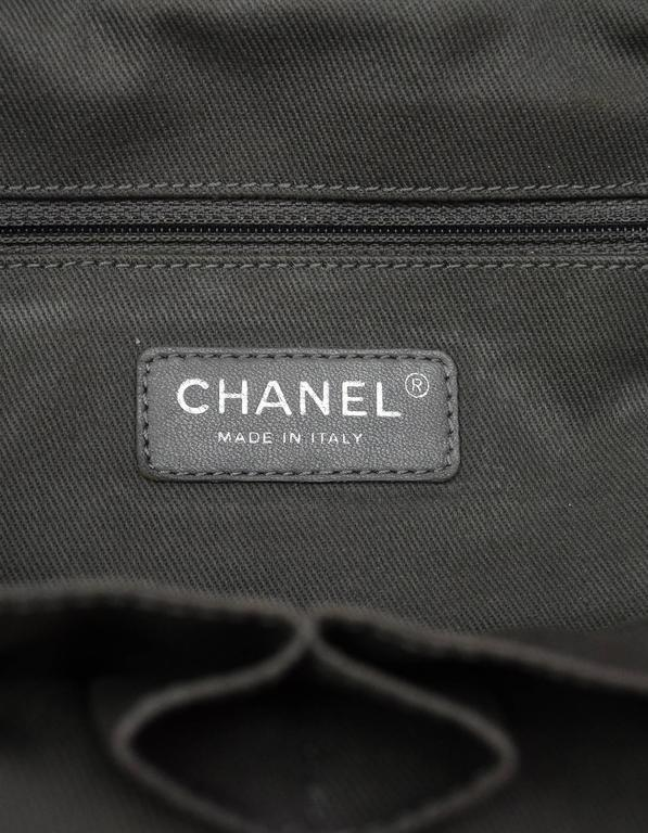 Chanel Collector's Sold Out Grey Canvas Printed Graffiti Tote Bag 7