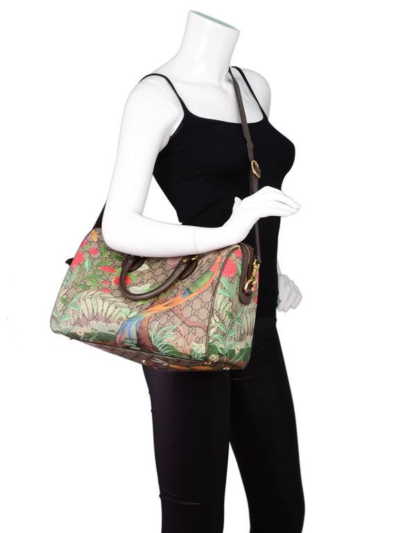 gucci monogram tian supreme boston bag w   strap for sale at 1stdibs