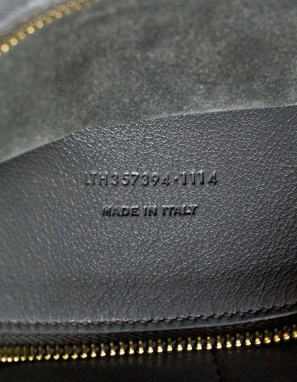 Saint Laurent Dark Anthracite Grey Medium Monogram Cabas
