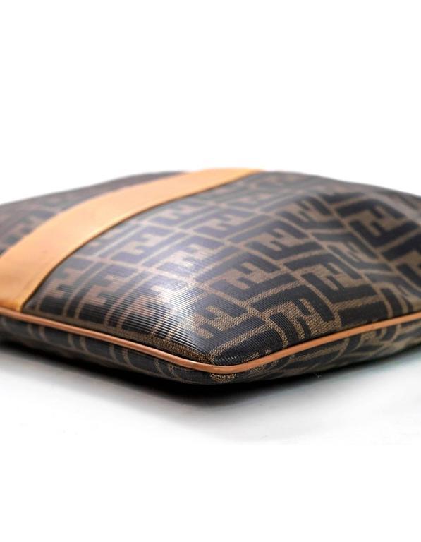 Fendi Vintage Foldover Zucca Tote Clutch Bag For Sale At