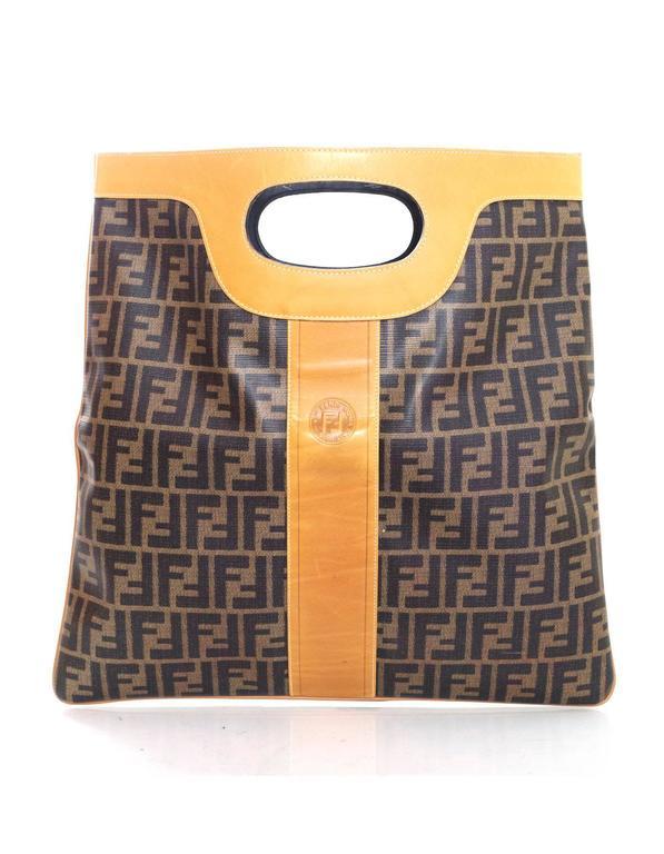 Fendi Vintage Foldover Zucca Tote Clutch Bag For Sale at 1stdibs a70aebd0d37f
