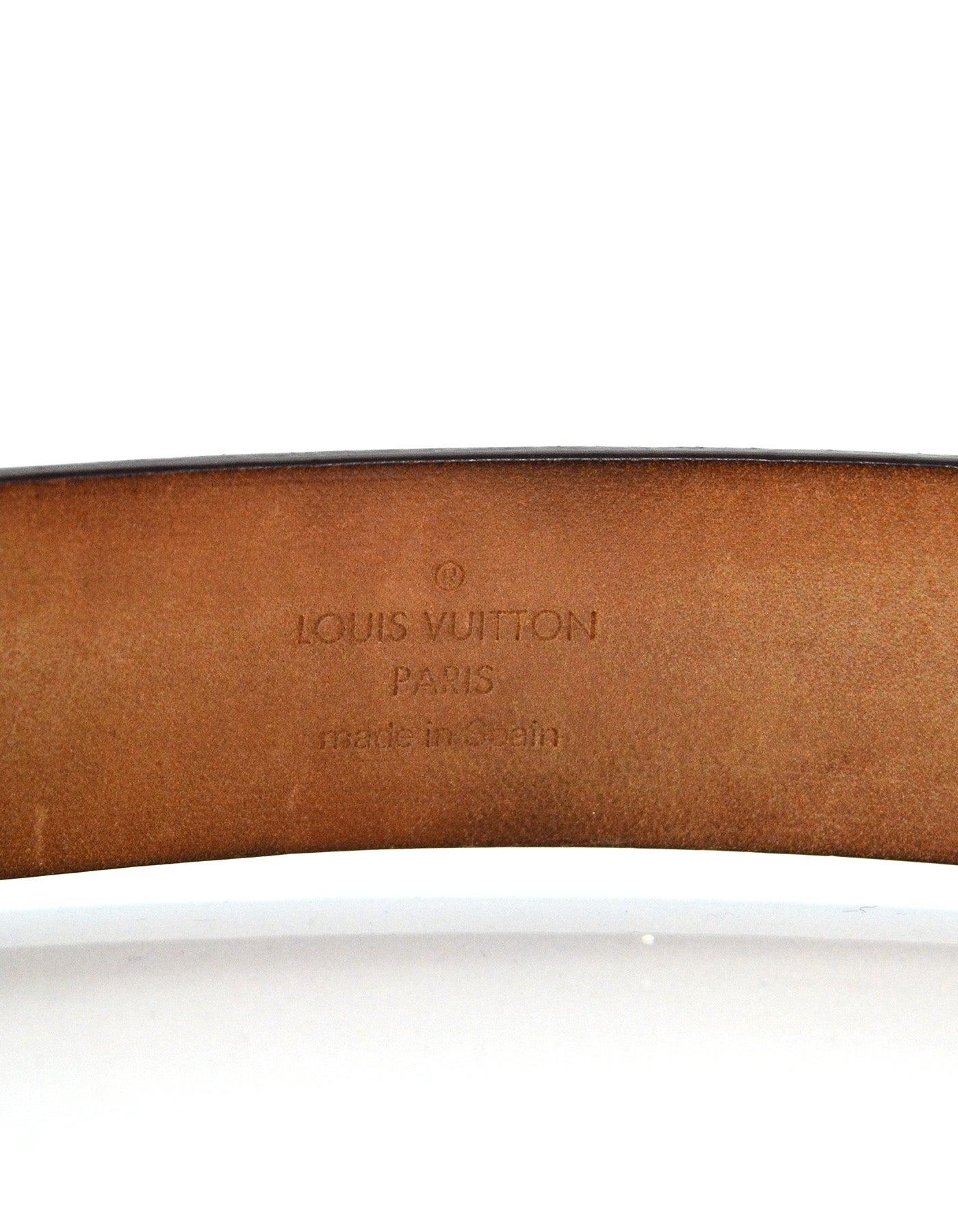 9aaf75dfc324 Louis Vuitton Monogam Ceinture Carre Belt sz 85 34 For Sale at 1stdibs