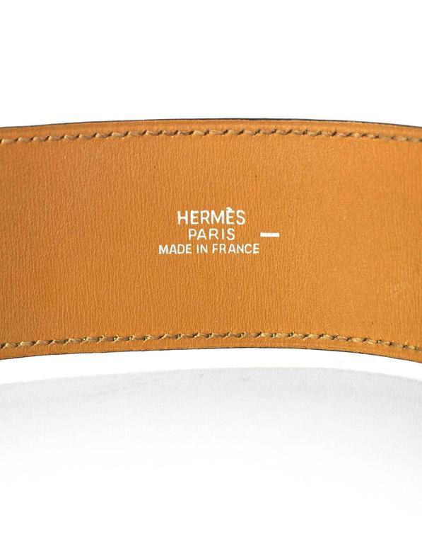 Hermes Green Lizard Kelly Dog Cuff Bracelet sz S For Sale 2
