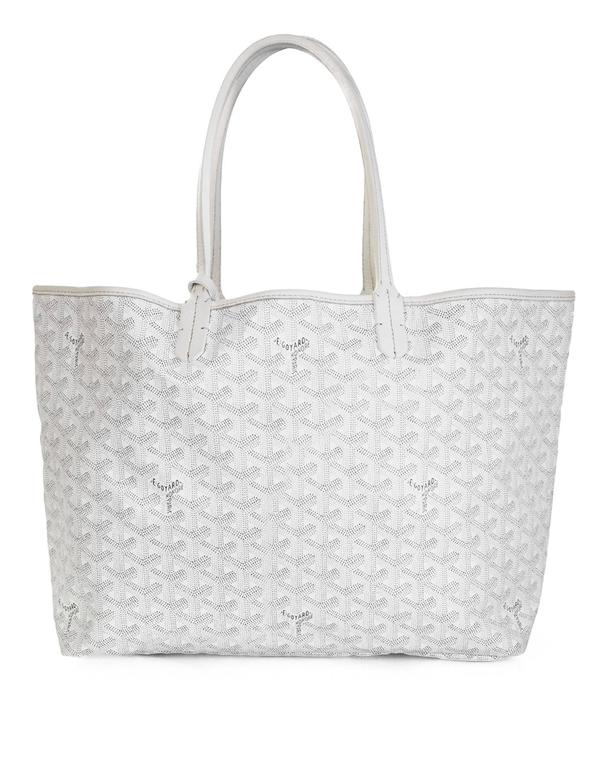 Goyard White St Louis PM Chevron Tote Bag At Stdibs - How to create a paypal invoice goyard online store