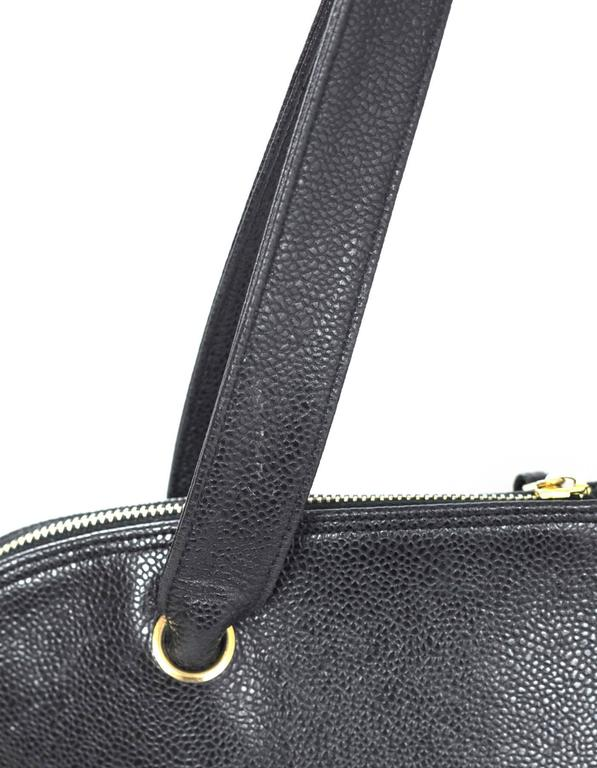 Chanel Black Vintage Caviar Leather Shoulder Bag 9