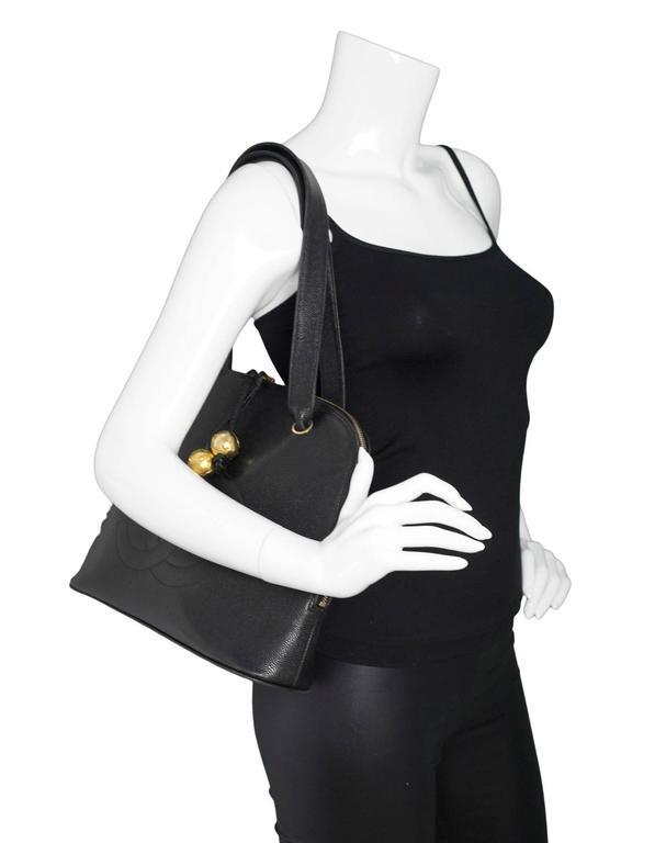 Chanel Black Vintage Caviar Leather Shoulder Bag 2