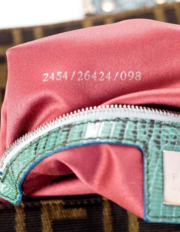 Fendi Zucca Floral Embroidered Baguette Bag 4
