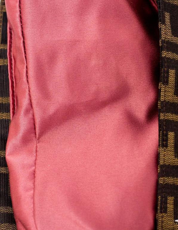 Fendi Zucca Floral Embroidered Baguette Bag 2