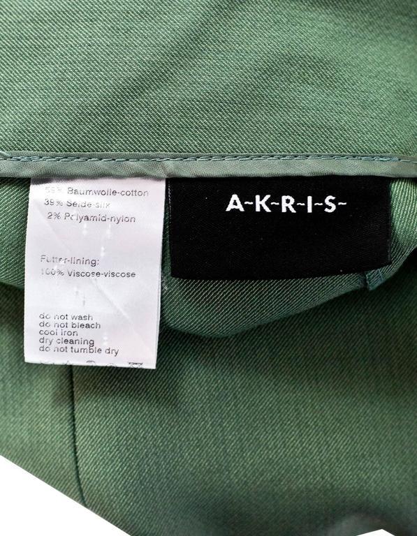 Akris Green Cropped Pants Sz 10 5