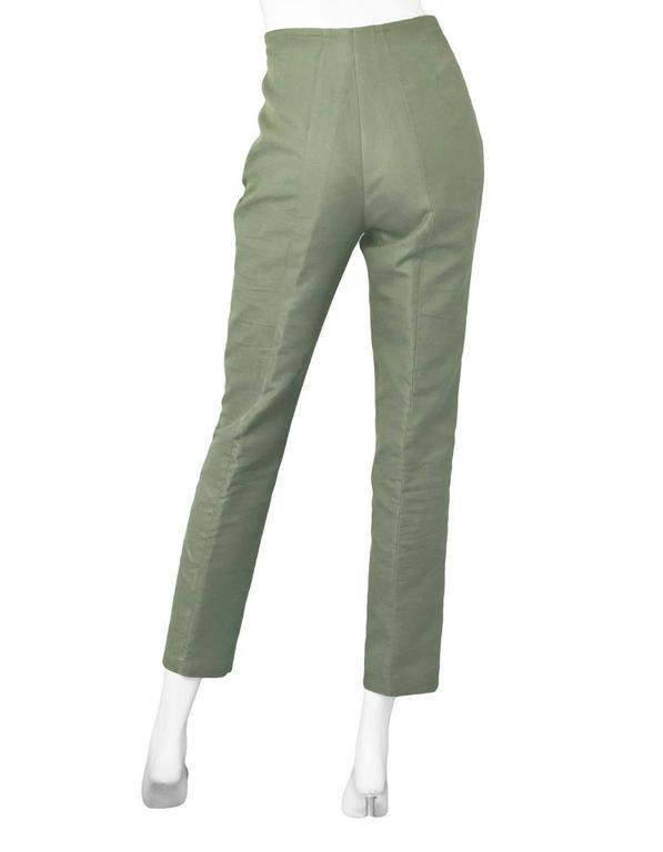 Akris Green Cropped Pants Sz 10 4