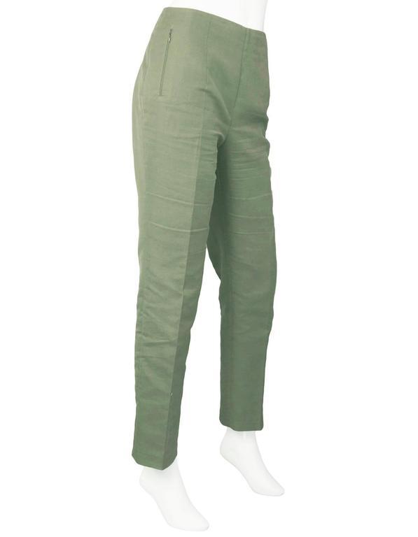 Akris Green Cropped Pants Sz 10 3