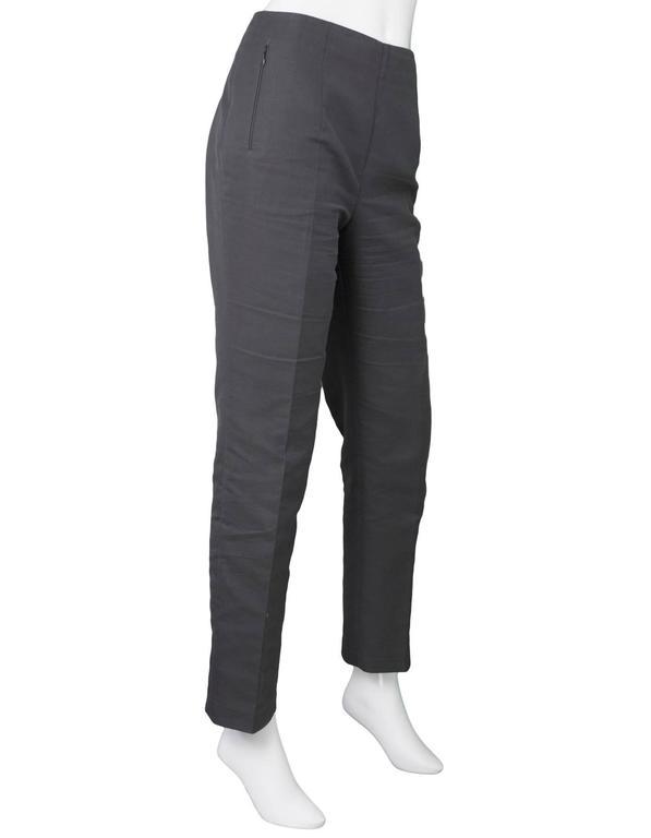 Akris Grey Cropped Pants Sz 8 3