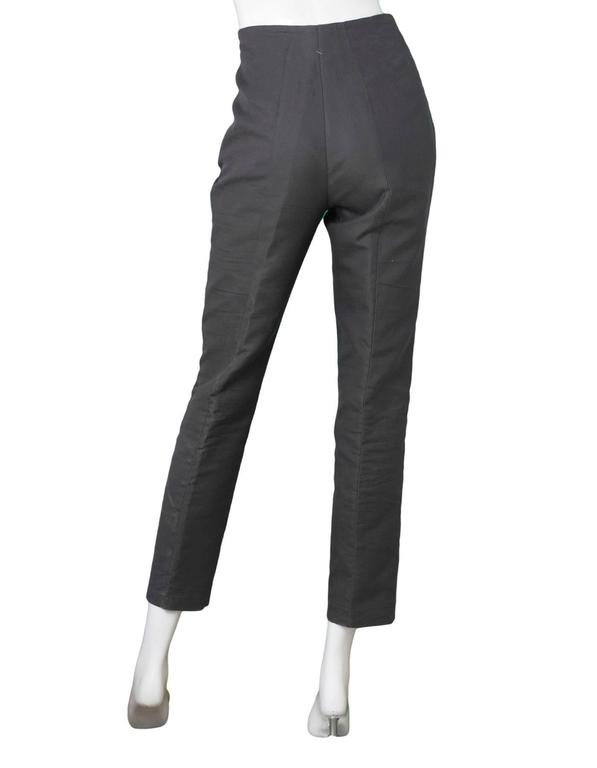Akris Grey Cropped Pants Sz 8 4
