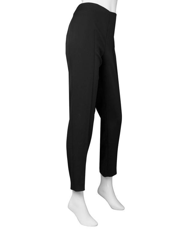 Akris Black Silk Cropped Pants Sz 8 2