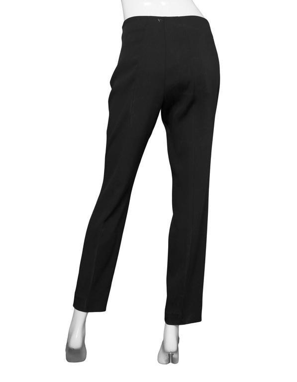 Akris Black Silk Cropped Pants Sz 8 3