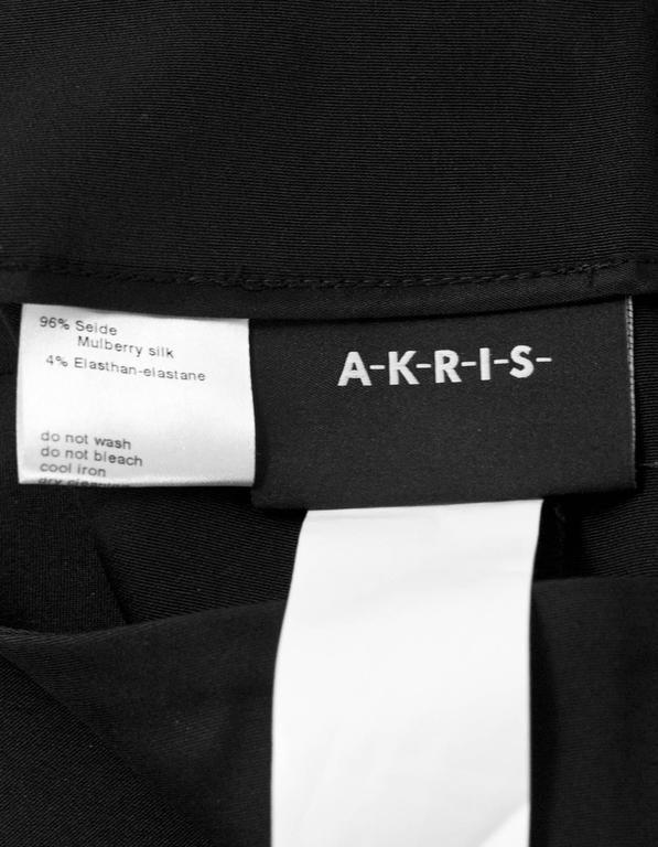 Akris Black Silk Cropped Pants Sz 8 4
