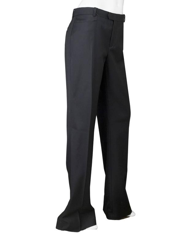 Joseph Black Wool Pants Sz IT42 NWT In New Never_worn Condition For Sale In New York, NY