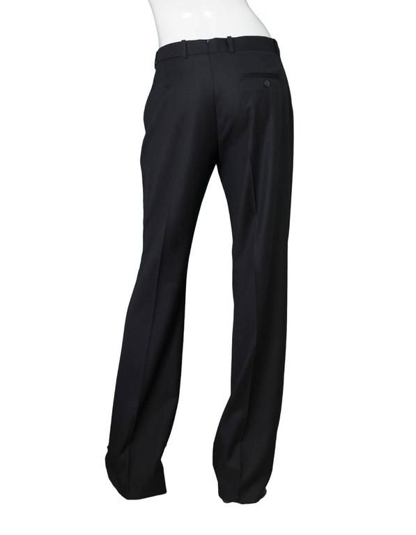 Women's Joseph Black Wool Pants Sz IT42 NWT For Sale