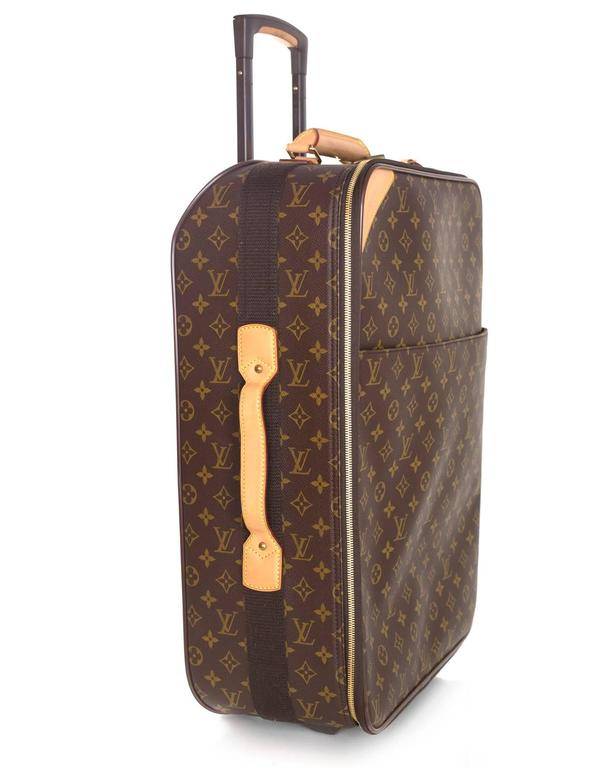 149be6252 Louis Vuitton Monogram Pegase 55 Rolling Luggage Features retractable  handle Made In: France Year of