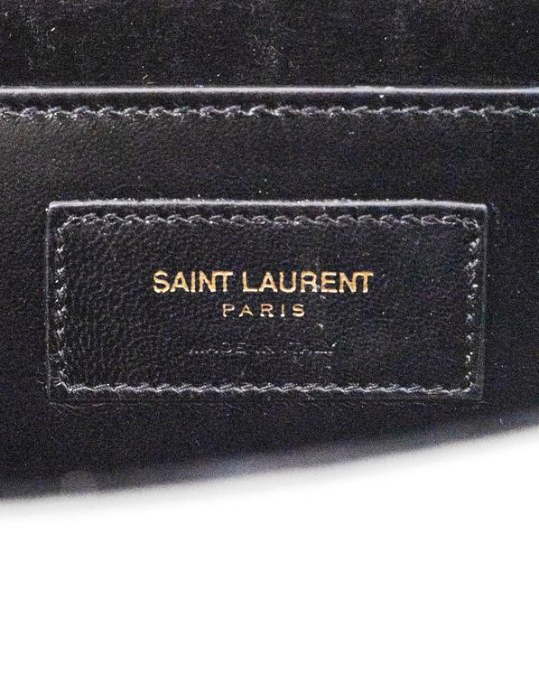 Saint Laurent Silver Leather Cassandre Monogram Clutch Bag 9