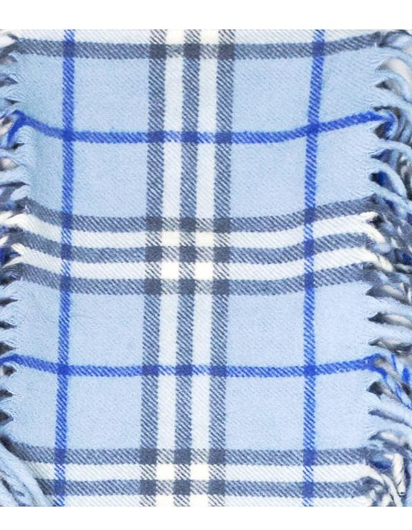 Burberry Blue Cashmere Nova Check Happy Scarf 2