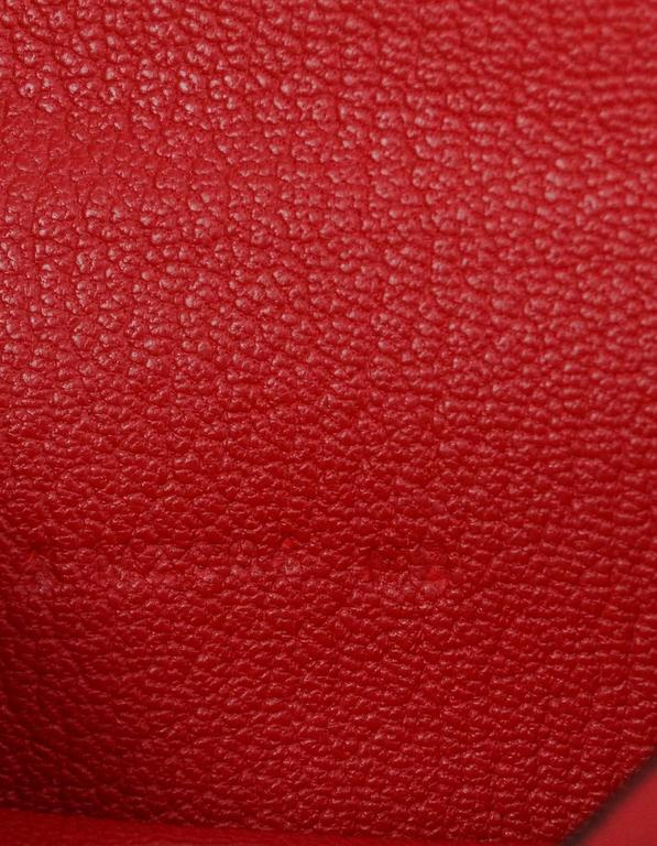 d56806a76229 Hermes NEW Red Rouge Tomate Chevre Mini Bearn Card Holder For Sale ...