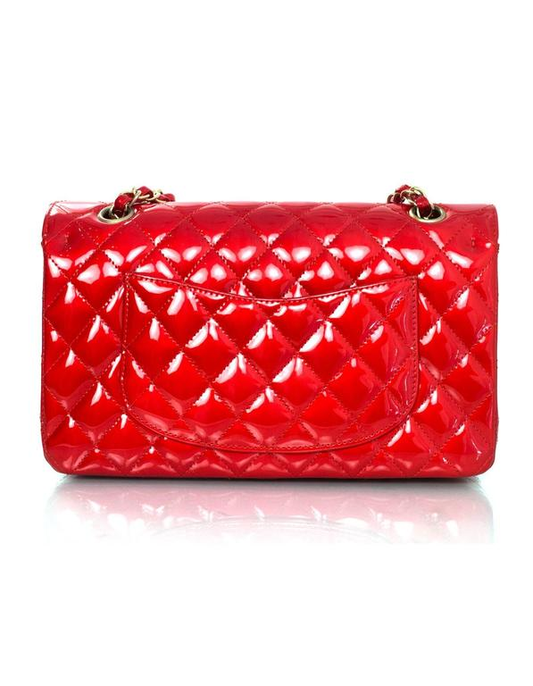 "Chanel Collector's Mobile Art Show Signed Red Patent 10"" Classic Double Flap Bag 2"