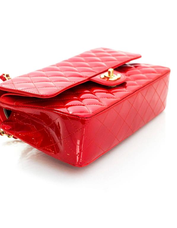 "Chanel Collector's Mobile Art Show Signed Red Patent 10"" Classic Double Flap Bag 3"