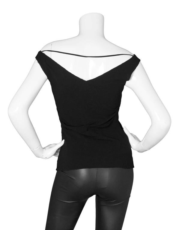 Prada Black Sleeveless Ruched Blouse sz 38 4