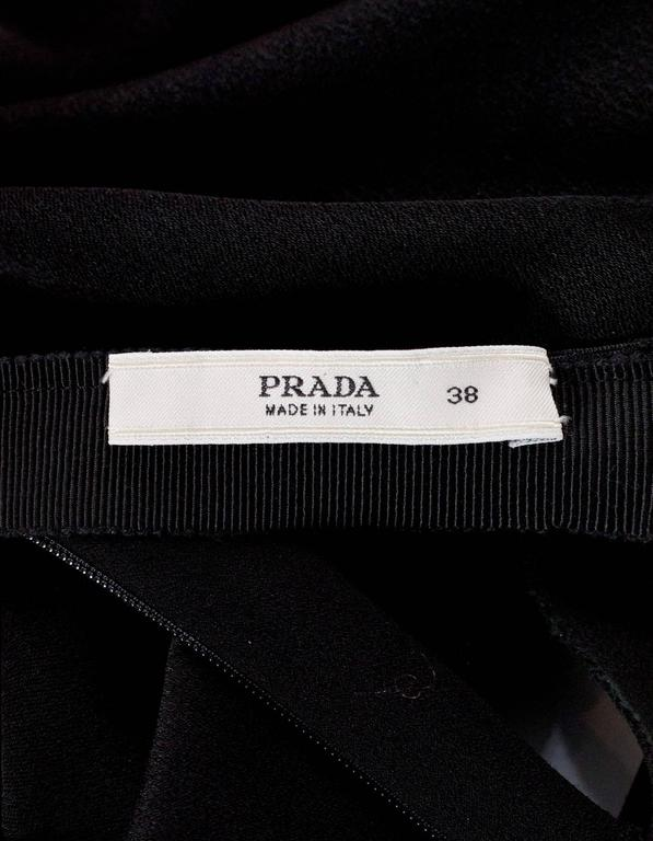 Prada Black Sleeveless Ruched Blouse sz 38 5