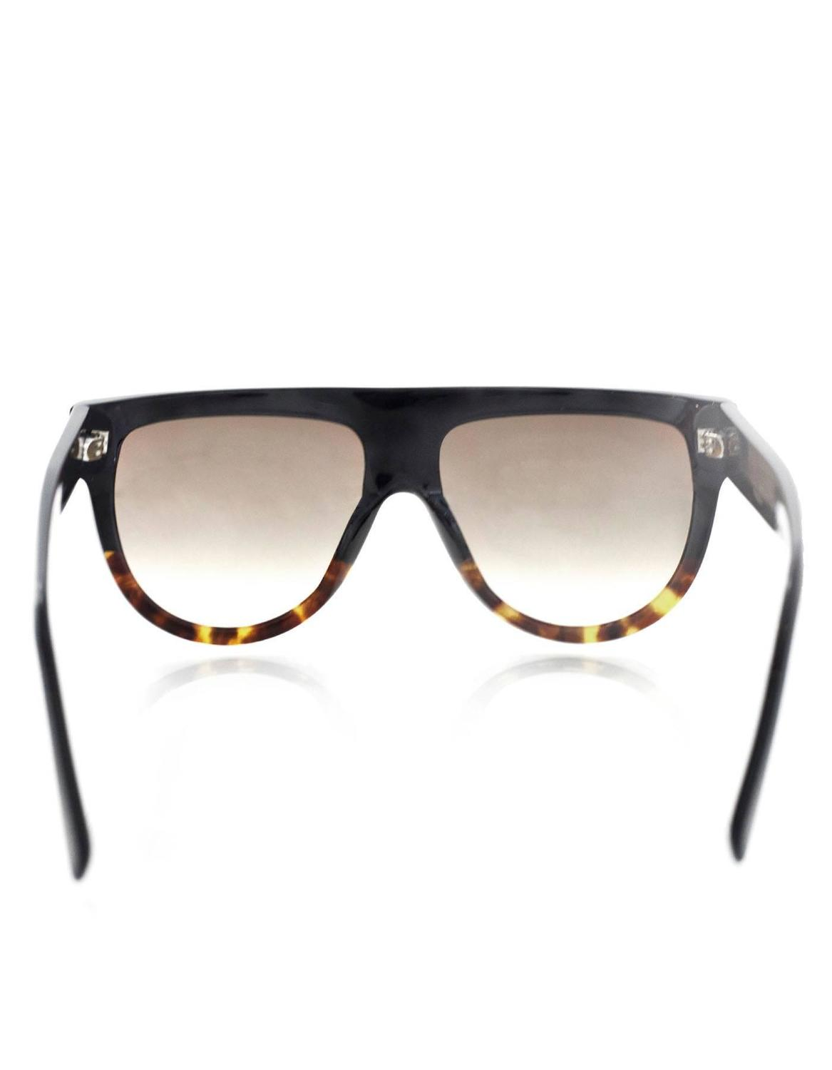 631265c63f Celine Shadow Flat Top Sunglasses with Case For Sale at 1stdibs