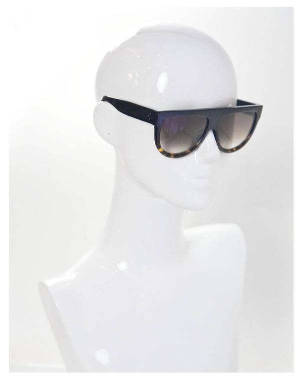 c8b8be80ab4 Celine Shadow Flat Top Sunglasses with Case For Sale at 1stdibs