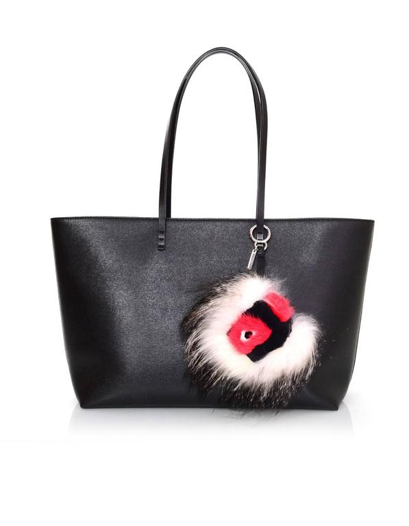 1bb58a1bd7c0 Fendi Black White   Red Fur Archy Bag Bug Charm In New Condition For Sale In