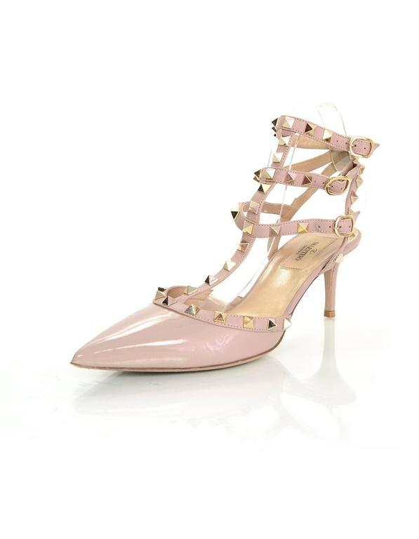 dc69d58b76b Valentino Nude Patent Rockstud Pumps Sz 39 65mm pumps with studding  throughout Made In  Italy