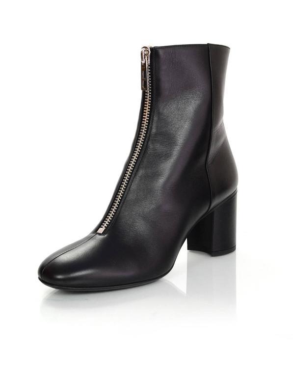 Bison Zipper Pull Hermes Black Leather N...