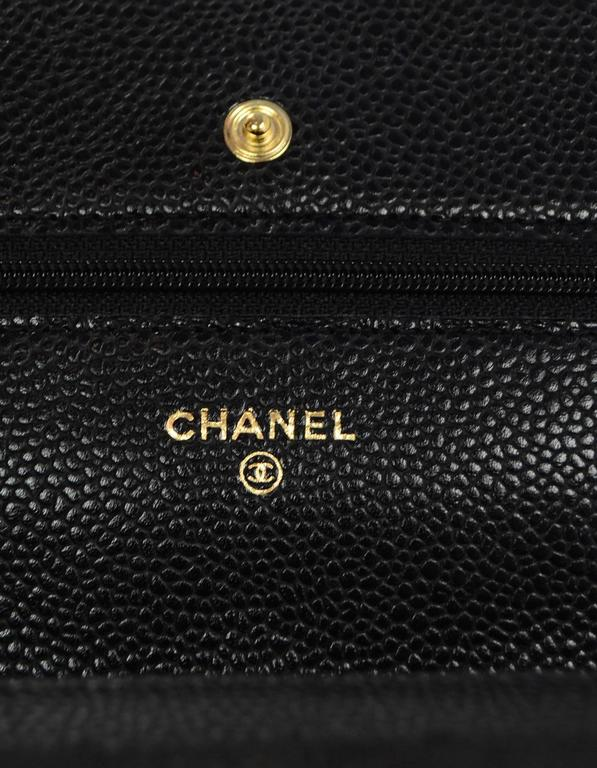45c393cdeb8b Chanel Black Caviar Leather Wallet On Chain WOC Crossbody Bag with Box For  Sale 4