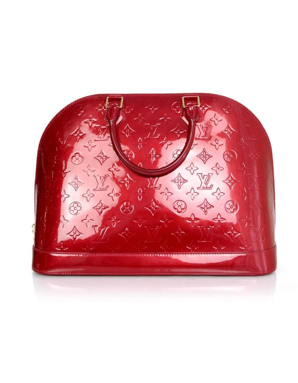 ecd4f005507 Louis Vuitton Pomme d Amour Red Monogram Vernis Alma GM Made In  France Year