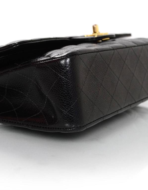 99207e6522e7 Chanel Black Quilted Caviar Classic Medium Double Flap Bag In Excellent  Condition For Sale In New