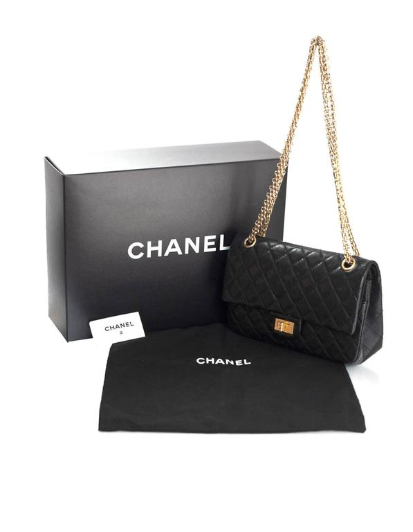 1f20201cff Chanel Black Calfskin Leather 2.55 Reissue 225 Double Flap Classic Bag For  Sale 6