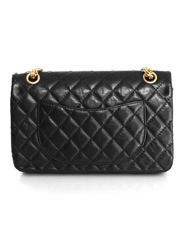 42d16bdfd93a Women's Chanel Black Calfskin Leather 2.55 Reissue 225 Double Flap Classic  Bag For Sale