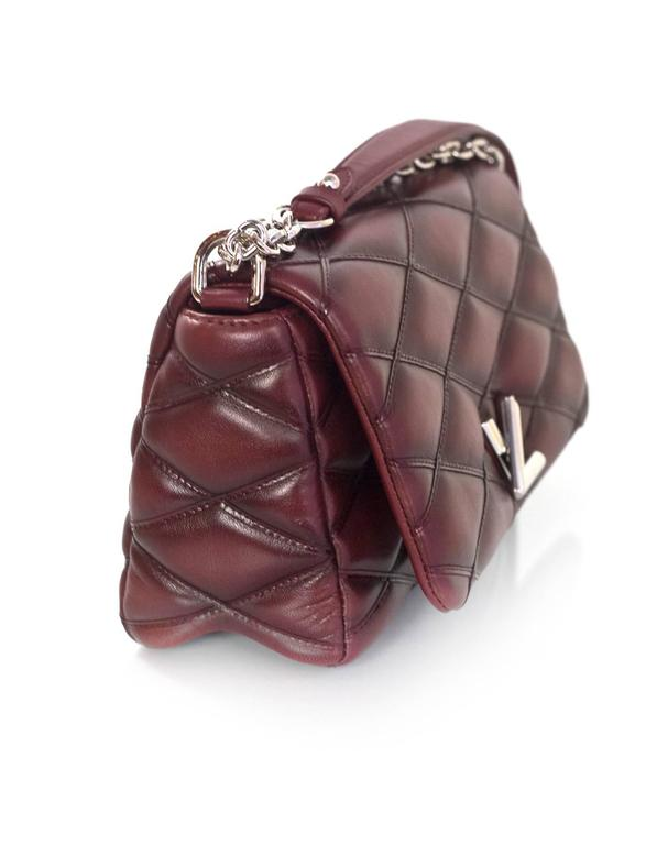 Louis Vuitton Burgundy Leather Go-14 Malletage Pm Quilted Twist Bag pG9ftIuT
