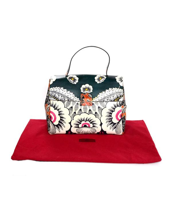 Valentino 2015 Multicolor Floral Print Mime Top Handle Bag rt. $3,645 3