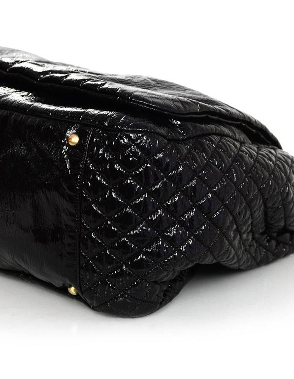 d6bf007c9414 Chanel Black Vinyl XL Rock and Chain Accordion Bag For Sale at 1stdibs