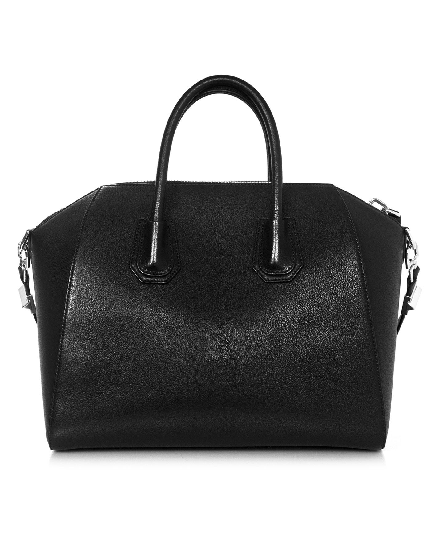 8dfd9046a3 Givenchy Black Grained Sugar Goat Leather Medium Antigona Satchel Bag For  Sale at 1stdibs