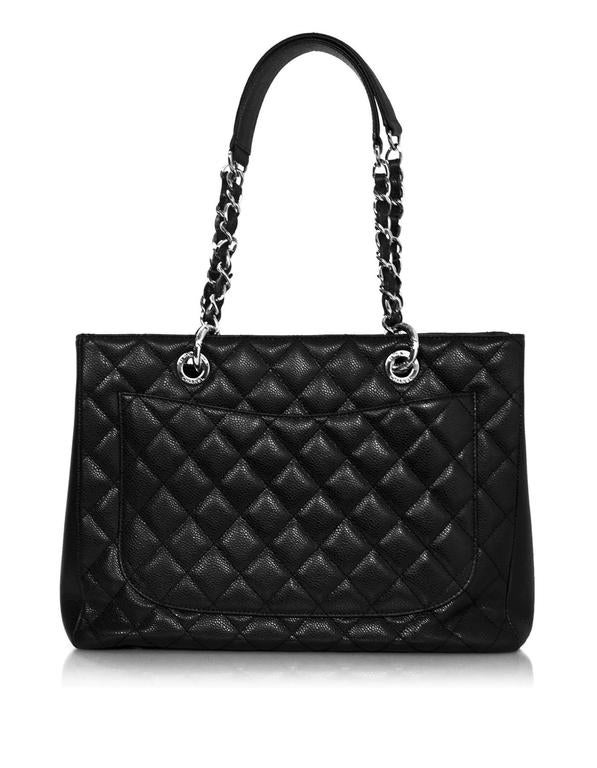 52ac7d7ba0935e Chanel Black Caviar Leather GST Grand Shopper Tote Bag with SHW In  Excellent Condition For Sale