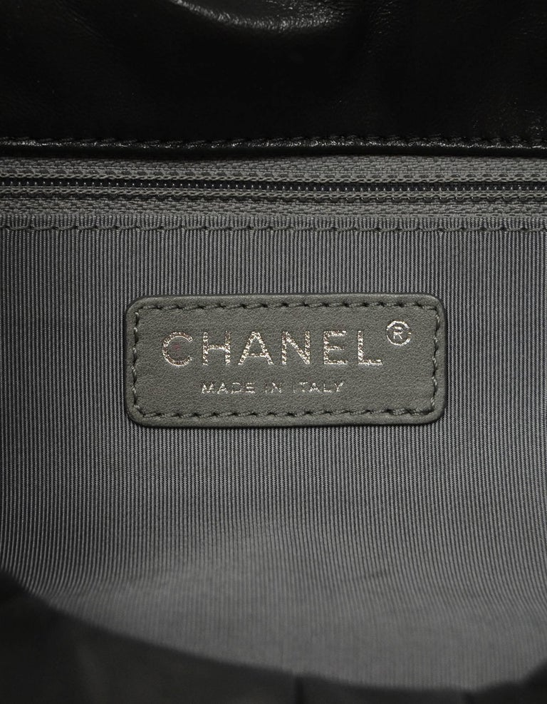 Chanel Grey Leather Square Quilted Reissue 2.55 Flap Bag For Sale 2