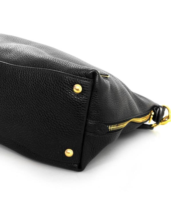 1051b06b848a Prada Black Pebbled Leather Shoulder Bag For Sale at 1stdibs