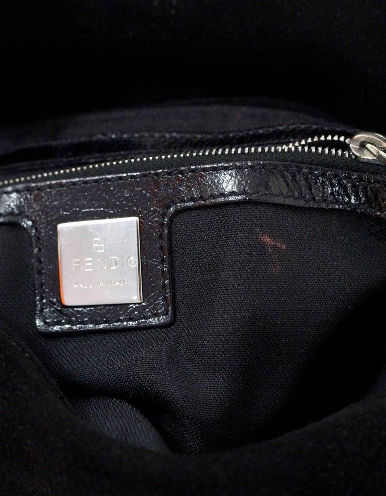 Fendi Black Suede Baguette Shoulder Bag 2