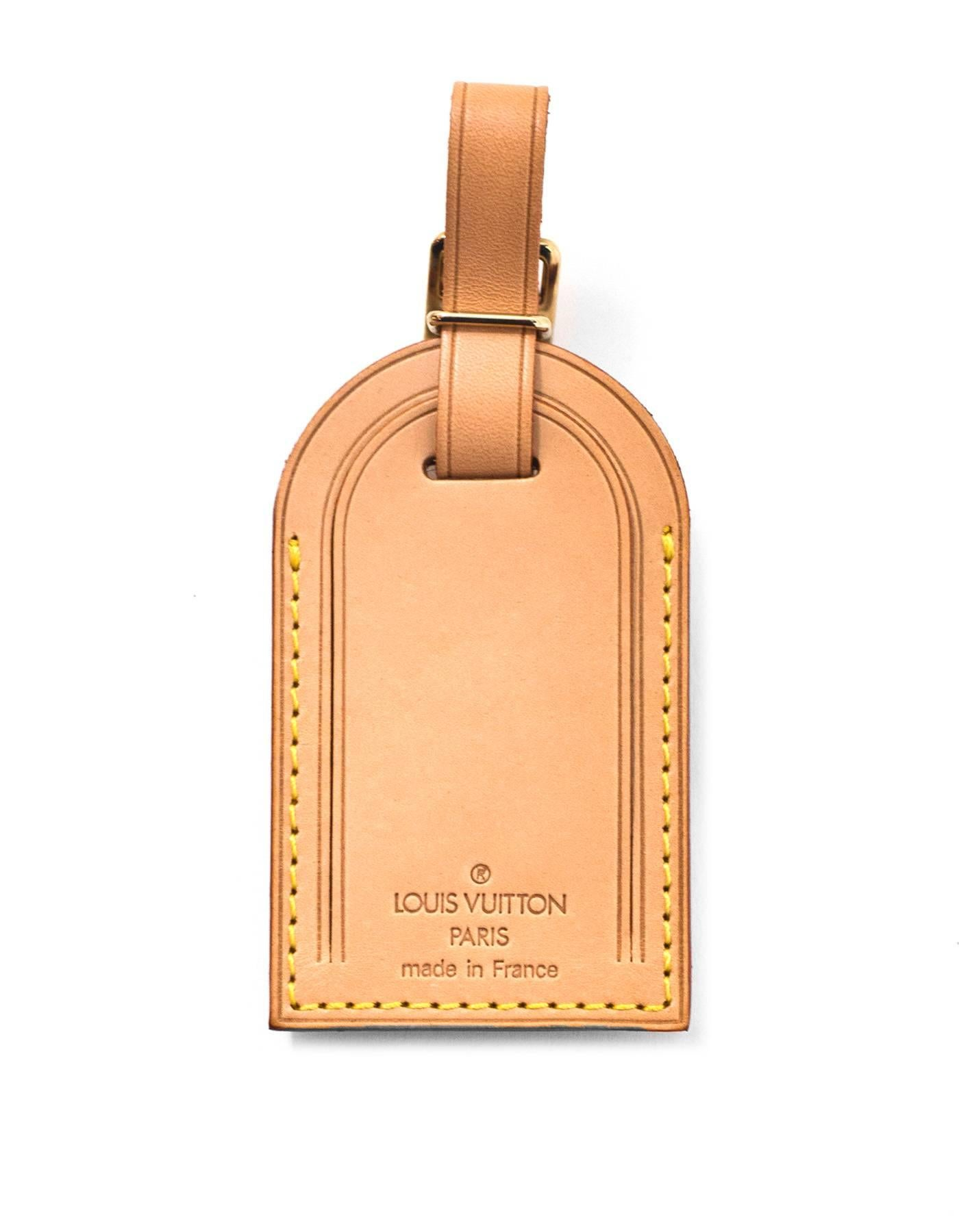 d25e402bd3e4 Louis Vuitton Vachetta Luggage Tag and Loop with Dust Bag at 1stdibs