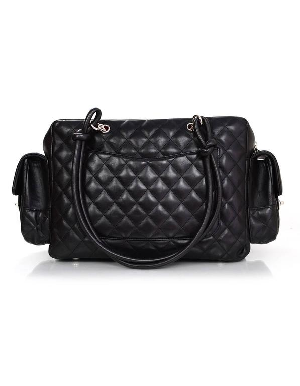cb958153b44b Chanel Black Leather Cambon Ligne Multipocket Reporter Bag with Dust Bag In  Excellent Condition For Sale